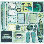 Creative Imaginations - South Seas Collection - 12 x 12 Cardstock Stickers - South Seas