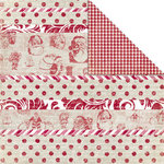 Creative Imaginations - Art Warehouse by Danelle Johnson - Hollyberry Collection - Christmas - 12 x 12 Double Sided Paper - Peppermint