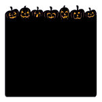 Creative Imaginations - Harvest Moon Collection - 12 x 12 Die Cut Paper - Pumpkin Parade