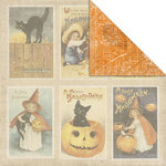 Creative Imaginations - Art Warehouse by Danelle Johnson - Harvest Moon Collection - 12 x 12 Double Sided Paper - Autumn Blaze