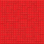 Creative Imaginations - Lego Classic Collection - 12 x 12 Embossed Paper - Red Brick