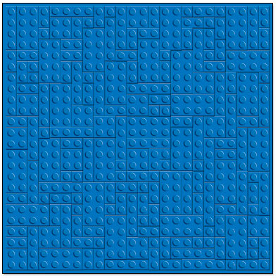 Creative Imaginations - Lego Classic Collection - 12 x 12 Embossed Paper - Blue Brick