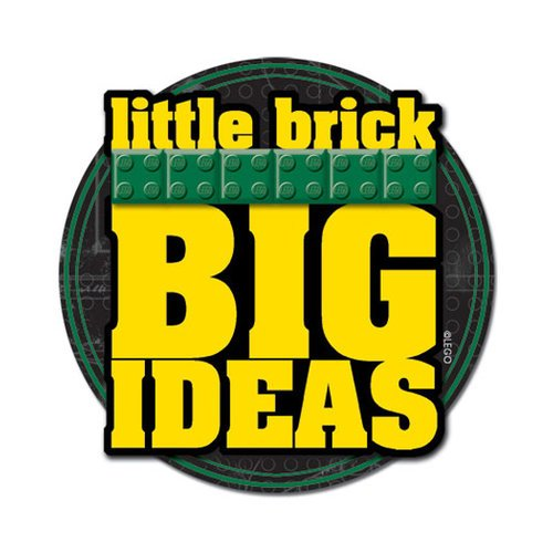 Creative Imaginations - Lego Classic Collection - Layered Chipboard Sticker - Big Ideas
