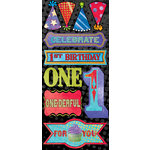 Creative Imaginations - Melange - Celebrate Me Collection - Cardstock Stickers - One Rocks