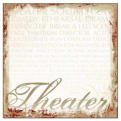 Creative Imaginations - Signature Theater Collection - 12 x 12 Paper - Theater
