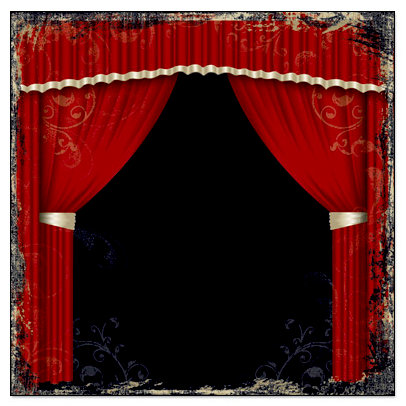 Creative Imaginations - Signature Theater Collection - 12 x 12 Paper - Curtain Call