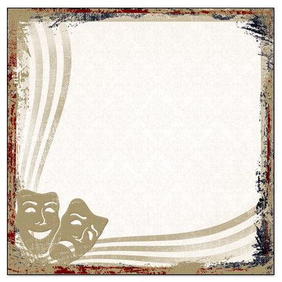 Creative Imaginations - Signature Theater Collection - 12 x 12 Paper - Comedy and Tragedy