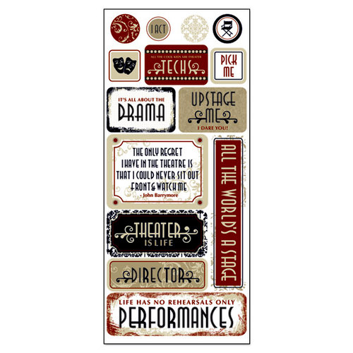 Creative Imaginations - Signature Theater Collection - Cardstock Stickers - Theater Arts