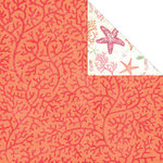 Creative Imaginations - Oceana Collection - 12 x 12 Double Sided Paper - Coral