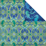 Creative Imaginations - Oceana Collection - 12 x 12 Double Sided Paper - Mermaid Noveau