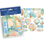 Creative Imaginations - Oceana Collection - Die Cut Pieces with Foil Accents - Oceana Shapes