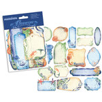 Creative Imaginations - Oceana Collection - Die Cut Pieces with Foil Accents - Oceana Tags, CLEARANCE