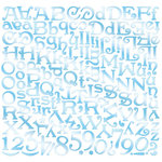 Creative Imaginations - Oceana Collection - 12 x 12 Cardstock Stickers - Oceana Alphabet