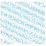 Creative Imaginations - Oceana Collection - 12 x 12 Cardstock Stickers - Oceana Alphabet