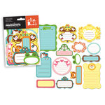 Creative Imaginations - It's A Zoo Collection - Die Cut Pieces - Shapes, CLEARANCE