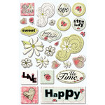 Creative Imaginations - Loolah Collection - Epoxy Stickers