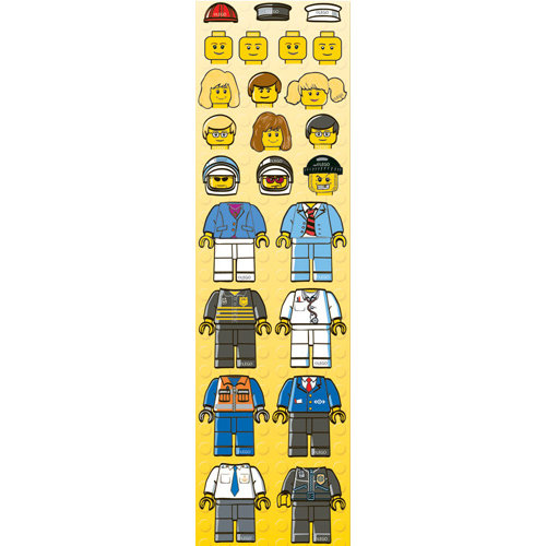 Creative Imaginations - Lego Classic Collection - Cardstock Stickers - Minifigures