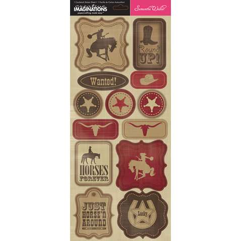 Creative Imaginations - Cowboy Collection - Cardstock Stickers - Cowboy