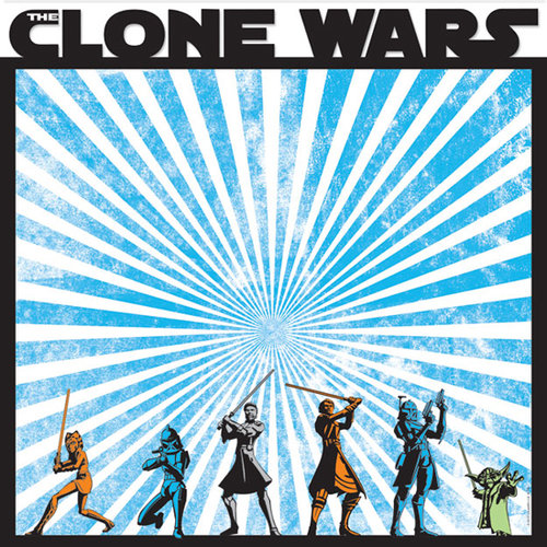 Creative Imaginations - Star Wars Clone Wars Collection - 12 x 12 Die Cut Paper - The Clone Wars