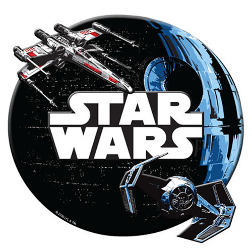 Creative Imaginations - Star Wars Collection - Layered Chipboard Sticker with Foil Accents - Star Wars