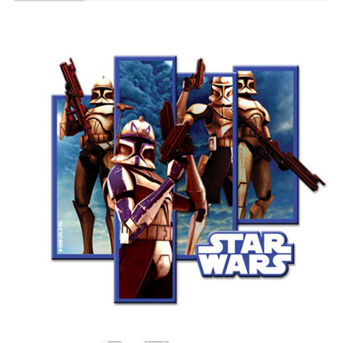 Creative Imaginations - Star Wars Clone Wars Collection - Layered Chipboard Sticker with Foil Accents - The Clone Wars