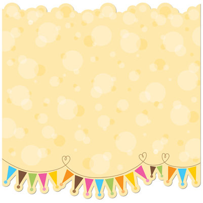 Creative Imaginations - Birthday Bliss Collection - 12 x 12 Glitter Die Cut Paper - Bubbles and Banners