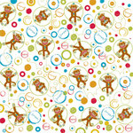 Creative Imaginations - Monkey Business Collection - 12 x 12 Glitter Paper - Jumpin' Monkeys