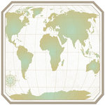 Creative Imaginations - Inspired Traveler Collection - 12 x 12 Die Cut Paper - World Map