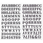 Creative Imaginations - Melange - Celebrate Me Collection - Glittered Alphabet Foam Stickers - Black, CLEARANCE