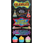 Creative Imaginations - Melange - Celebrate Me Collection - Chipboard Stickers - Celebrate Me, CLEARANCE