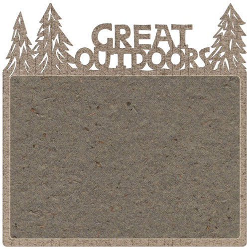 Creative Imaginations - Great Outdoors Collection - 12 x 12 Die Cut Paper - Great Outdoors