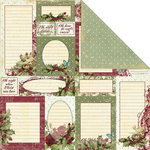 Creative Imaginations - Night Divine Collection - Christmas - 12 x 12 Double Sided Paper - Holiday Notes, BRAND NEW