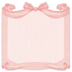 Creative Imaginations - Lullaby Girl Collection - 12 x 12 Die Cut Paper - Blush Bow