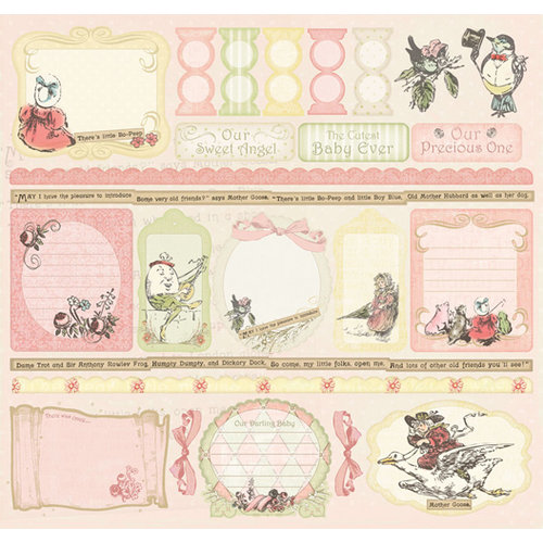 Creative Imaginations - Lullaby Girl Collection - 12 x 12 Cardstock Stickers - Lullaby Girl