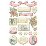 Creative Imaginations - Lullaby Girl Collection - Epoxy Stickers