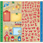 Creative Imaginations - Back To School Collection - 12 x 12 Cardstock Stickers