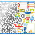 Creative Imaginations - Robots Rock Collection - 12 x 12 Cardstock Stickers with Foil Accents