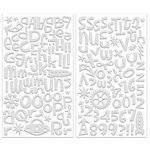 Creative Imaginations - Robots Rock Collection - Glittered Foam Alphabet Stickers - Eva