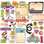 Creative Imaginations - Away We Go Collection - Die Cut Pieces - Away We Go Shapes