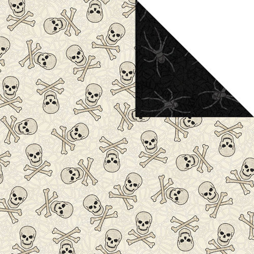 Creative Imaginations - Halloween Collection - 12 x 12 Double Sided Paper - Skulls