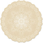 Creative Imaginations - Harvest Collection - 12 x 12 Die Cut Paper - Cream Doily
