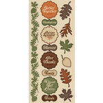 Creative Imaginations - Harvest Collection - Cardstock Stickers - Harvest
