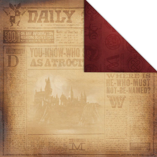 Creative Imaginations - Harry Potter Collection - 12 x 12 Double Sided Paper - Daily Prophet