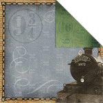 Creative Imaginations - Harry Potter Collection - 12 x 12 Double Sided Paper - Hogwarts Express