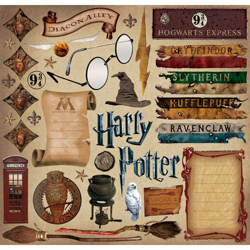 Creative Imaginations - Harry Potter Collection - 12 x 12 Cardstock Stickers - Harry Potter
