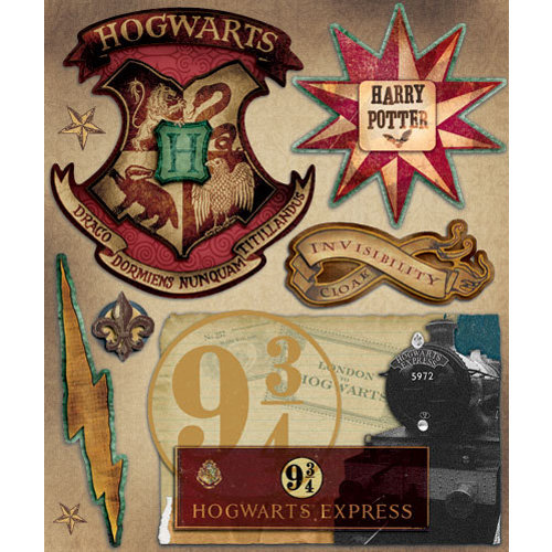 Creative Imaginations - Harry Potter Collection - Layered Cardstock Stickers - Harry Potter