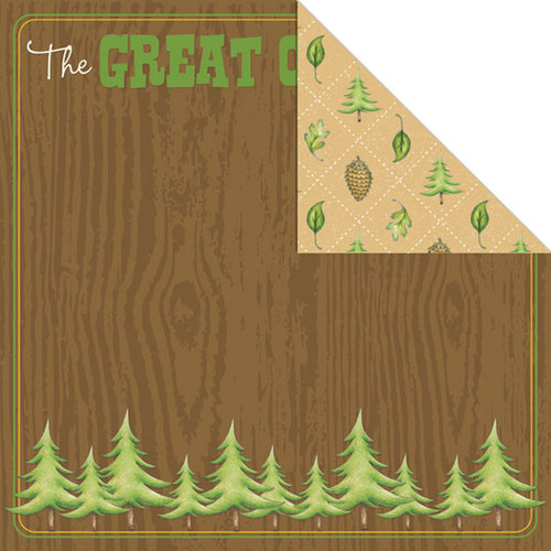 Creative Imaginations - Happy Camper Collection - 12 x 12 Double Sided Paper - Great Outdoors