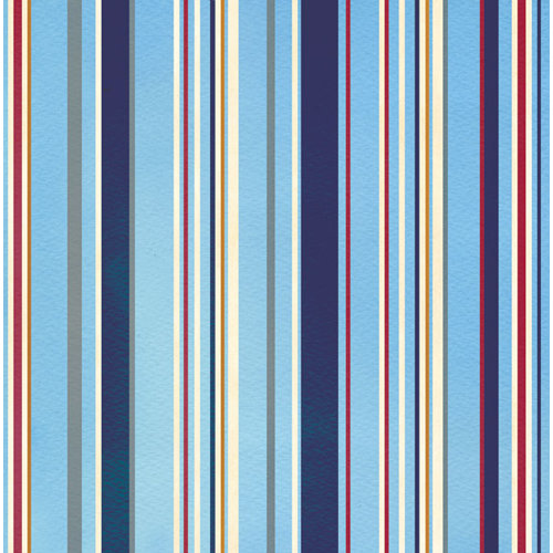 Creative Imaginations - Crusin Collection - 12 x 12 Paper - Marine Stripe