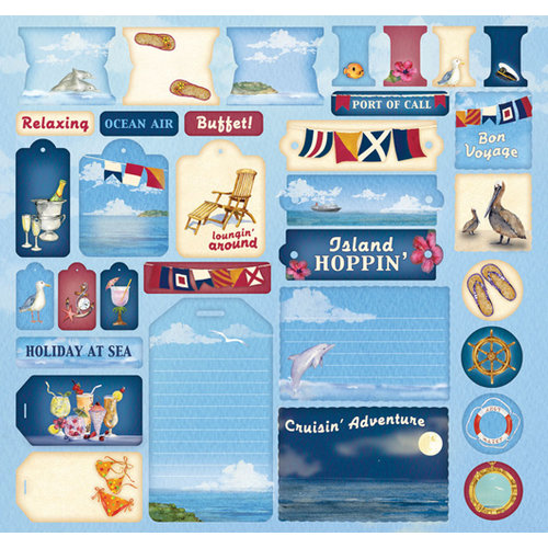 Creative Imaginations - Crusin Collection - 12 x 12 Cardstock Stickers - Crusin