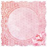 Creative Imaginations - Sakura Collection - 12 x 12 Die Cut Paper - Lovely Lantern